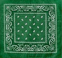 Классическая бандана, 55*55 см, зеленый, фото 1