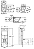 ROCA  Комплект: NEXO Rimless унитаз подвесной, PRO инсталяция для унитаза, PRO кнопка, сиденье твердое slow-closing , фото 2
