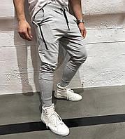 Стильные мужские спортивные штаны серые