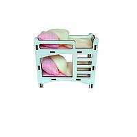 Кроватка двухъярусная для кукол LOL . Кукольная мебель для кукольных домиков Барби, Monster High, Winx, LOL