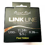 Леска Orient Rods Fluo Yellow Link Line 1200m 13,2Lb/6,01kg/0,283mm, фото 2