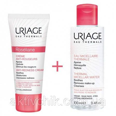 Набор  Uriage Roseliane крем + мицеллярная вода