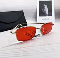 Солнцезащитные прямоугольные очки унисекс с красными линзами, фото 1