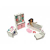 Набор мебели «Ванная». Кукольная мебель для кукольных домиков Барби, Monster High, Winx, LOL
