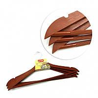 Набор вешалок для одежды Proff Wooden Design 44 х 1 см 3 шт коричневые