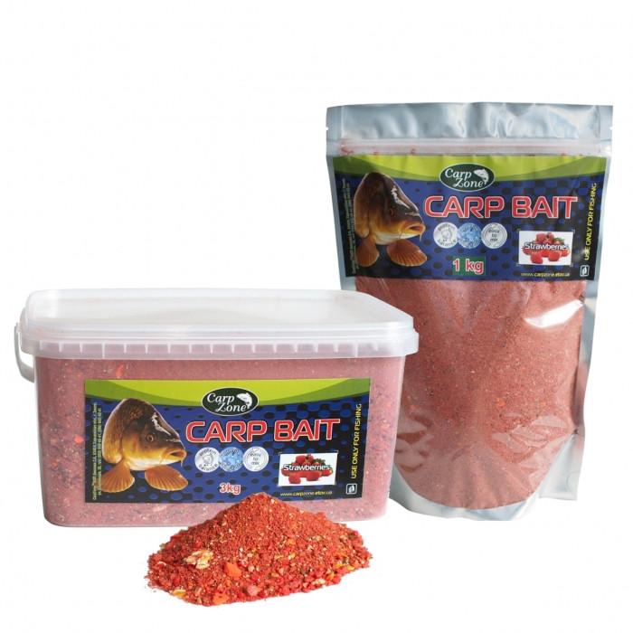 Прикормка карповая Клубника CarpZone Carp Bait Strawberries, 1kg