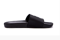 Мужские кожаные летние шлепанцы Philipp Plein New Line black черные, фото 1