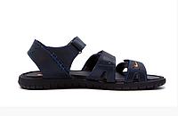 Мужские кожаные сандалии Nike ACG blue синие, фото 1