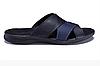 Чоловічі шкіряні літні шльопанці-сланці E-series Biom blue сині