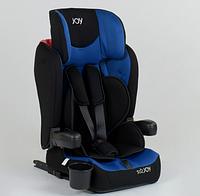 Чёрно-синее универсальное детское автокресло JOY 43098, система ISOFIX!!!
