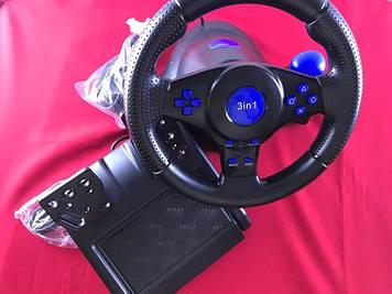 Ігровий кермо Super Vibration Steering Wheel USB/PC/PS3