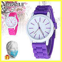 Стильные наручные женские часы Geneva / Кварцевые часы + Маска защитная в Подарок