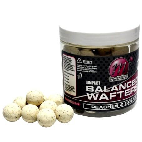 Бойлы насадочные критически сбалансированные Balanced Wafters Peaches & Cream, 1 бан 250ml