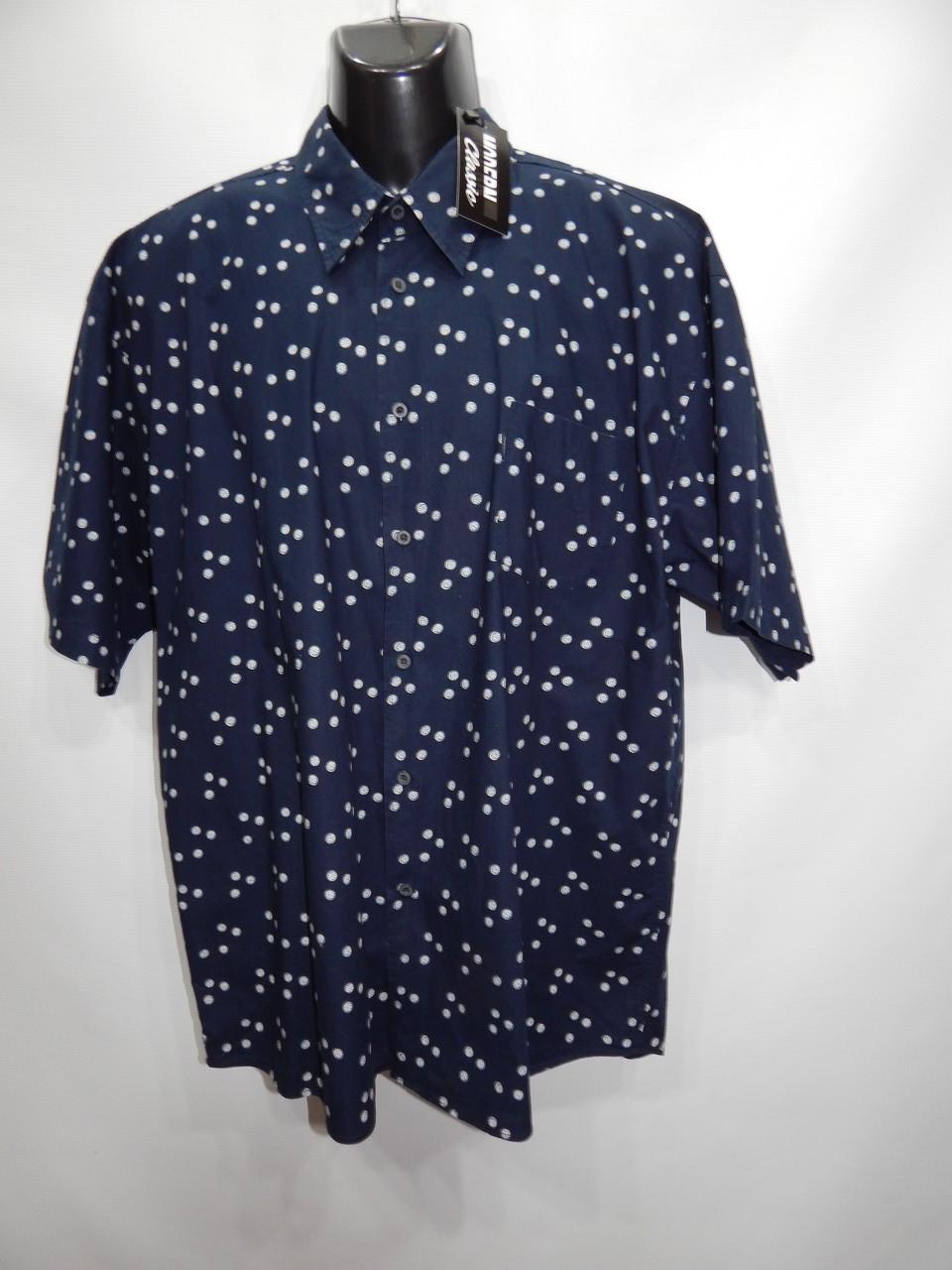 Мужская рубашка с коротким рукавом Lerros оригинал (098КР) р.54 батал