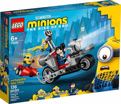 Lego Minions Невероятная погоня на мотоцикле 75549