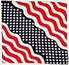 Оригинальная хлопковая бандана, звезды, 55*55 см, флаг