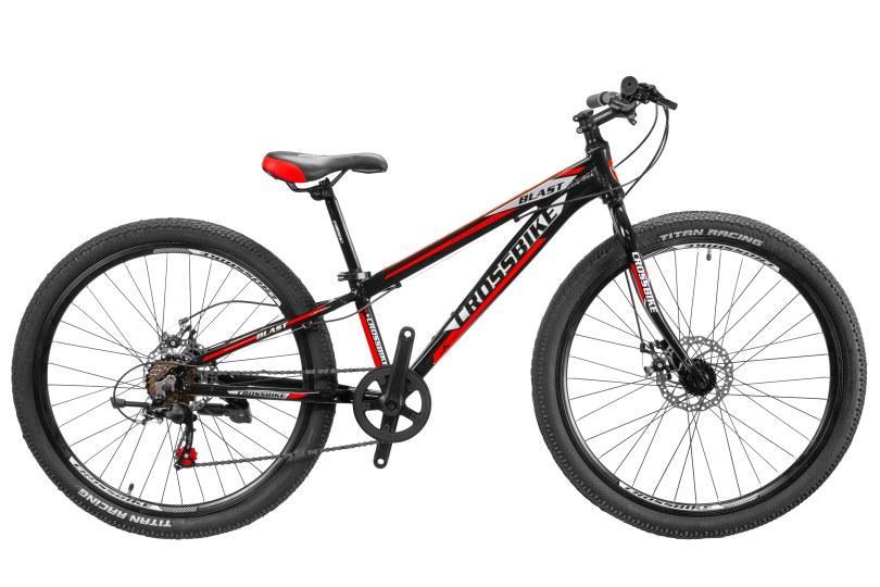 """CrossBike Велосипед Cross Blast 26""""11"""" Чёрный-Серебро-Красный"""