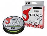 Плетеный шнур Daiwa J-Braid X8 Green, 150m 0,13mm, фото 7
