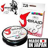 Плетеный шнур Daiwa J-Braid X8 Green, 150m 0,13mm, фото 10