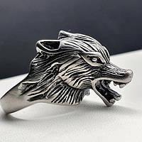 Мужское кольцо из медицинской стали Голова волка 175912, фото 1