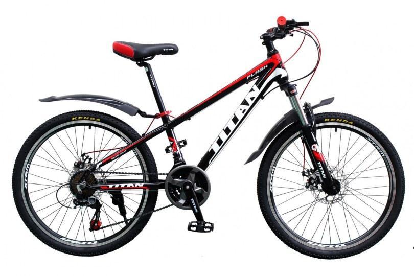 "TitanBike Велосипед Titan Flash 24""12"" Чёрный-Красный-Белый"