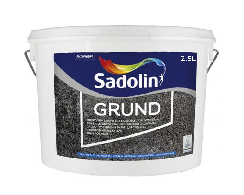 Грунт дисперсионный SADOLIN GRUND для впитывающих поверхностей белый (база ВW) 2,5л