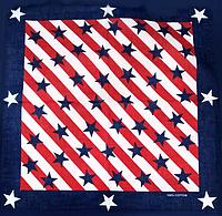Оригинальная хлопковая бандана, звезды, 55*55 см, флаг, фото 1