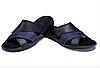 Мужские кожаные летние шлепанцы-сланцы E-series Biom blue синие