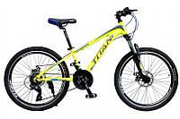 """TitanBike Велосипед Titan Scorpion 24""""12"""" Неоновый жёлтый-Чёрный"""