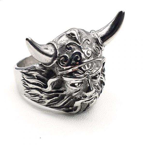Мужское кольцо из медицинской стали голова Викинга 175913