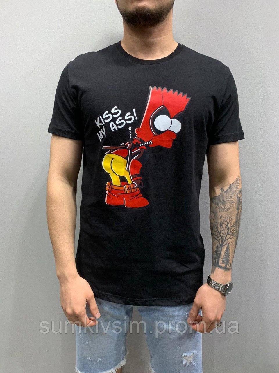 Стильная мужская футболка Deadpool