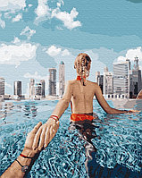 "Картина по номерам ""Следуй за мной. Бассейн в Дубае""  40х50"