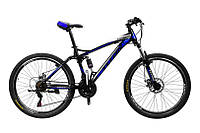 "TitanBike Велосипед Titan Viper 26""17"" Чёрный-Голубой"