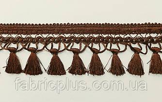 Бахрома с кисточками 8.5 см коричневая