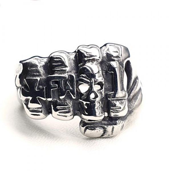 Мужское кольцо из медицинской стали Кулак 175914