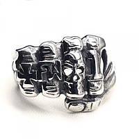 Мужское кольцо из медицинской стали Кулак 175914, фото 1