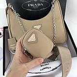 Сумка, клатч от Прада нейлоновая реплика 22 см, фото 4