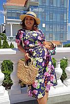 Летнее воздушное, любимое платье на каждый день р.48,50,52,54 код 0044У, фото 3