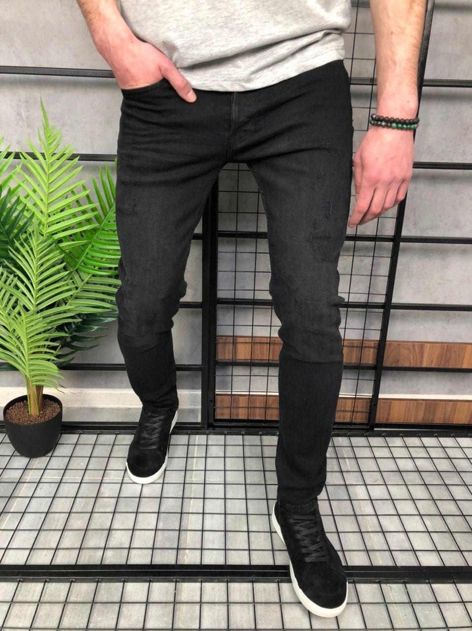 Чоловічі джинси темно-сірі 18029