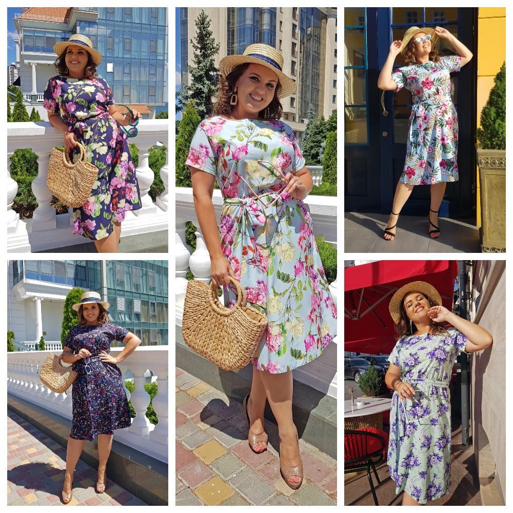 Летнее воздушное, любимое платье на каждый день р.48,50,52,54 код 0044У