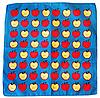 Оригинальная хлопковая бандана, яблоки, 55*55 см, синий