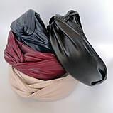 Обідок модний з вузликом. обідок Чалма. еко-шкіра різні кольори, фото 2