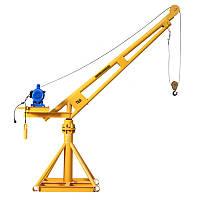 Лебедка электрическая с краном строительным 500 кг