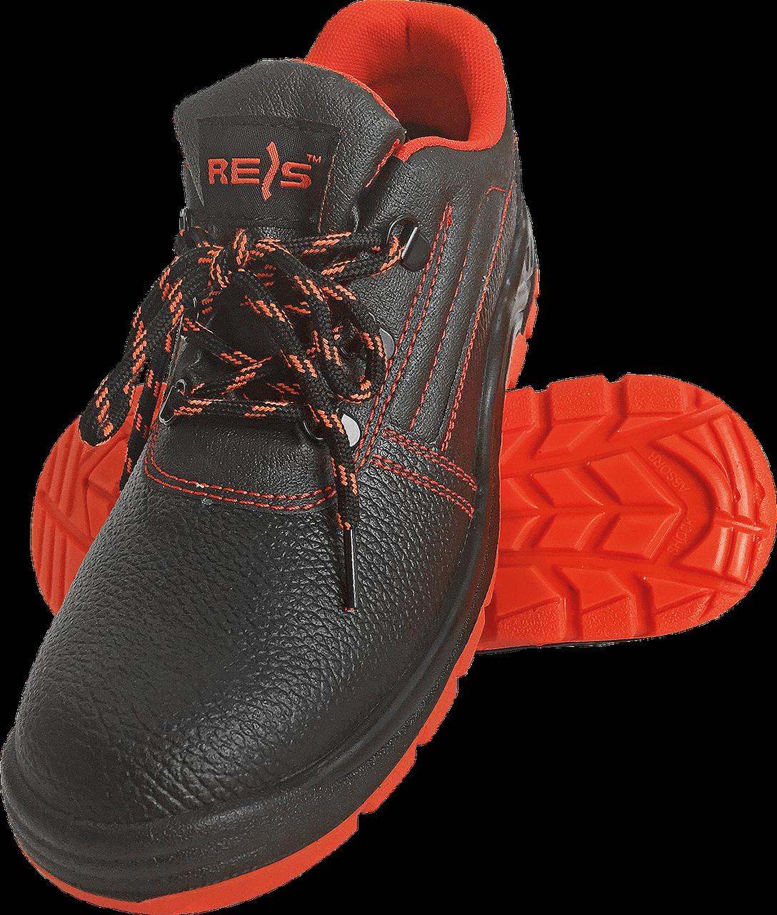 Полуботинки REIS BRYESK-P c металлическим носком 40 черные с красной подошвой(BRYESK-P)