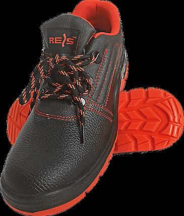 Полуботинки REIS BRYESK-P c металлическим носком 40 черные с красной подошвой(BRYESK-P), фото 2