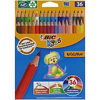 Набор карандашей цветных 36 шт Bic 140