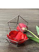 Стеклянная шкатулка для обручальных колец