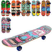Скейтборд детский колеса ПВХ, разные цвета