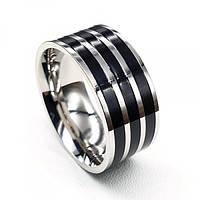 Кольцо из комбинированной медицинской стали Кридан 175921, фото 1