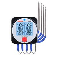 Термометр пищевой электронный 4-х канальный Bluetooth, -40-300°C WINTACT WT308B